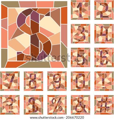 Мозаиками числовыми знакомство с