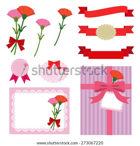 Set of Mother's day elements / vector eps10 illustration - stock vector