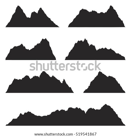 Rocky mountain silhouettes images Mountain silhouette