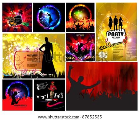 Set of music illustrations - stock vector