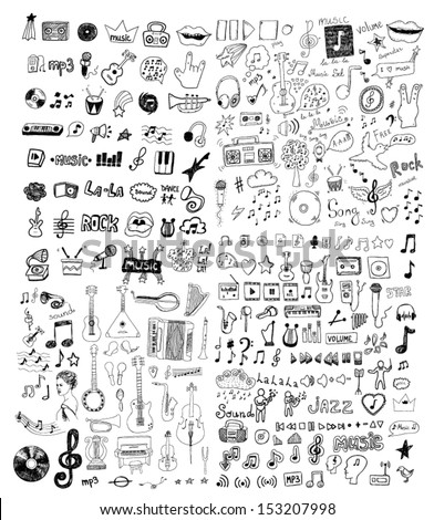 Set of music symbols - stock vector