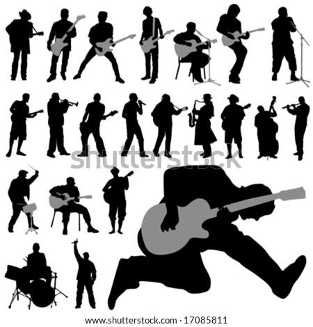 set of musician vector - stock vector
