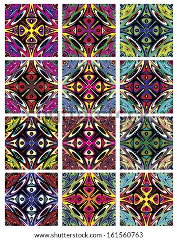 Set Native American Vector Patterns Spiritual Stock Vector Royalty