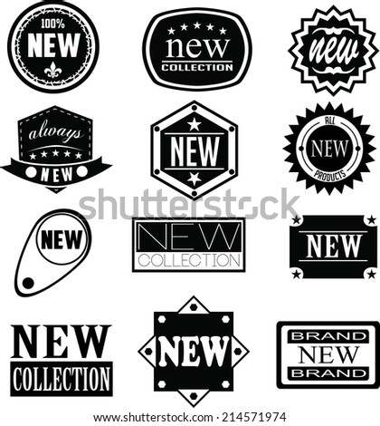 Set of  New badges, labels, and logos - stock vector