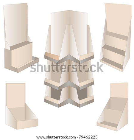 set of 5 new display. vector illustration - stock vector