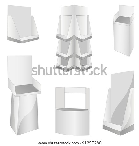 set of new 6 white display. vector illustration - stock vector