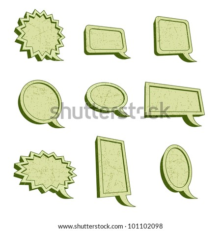 Set of nine Frames with an rusty look in a three dimensional appearance - stock vector