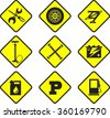 set of nine icons repair auto repair - stock vector