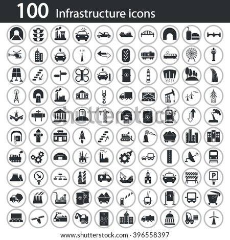 Infrastructure Icon Stock Images Royalty Free Images