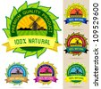 Set of Organic Logos, Stickers , Badges and Labels - stock vector