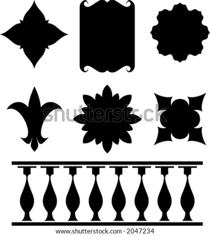 Set of original vector design elements. This is a vector image - you can simply edit colors and shapes. - stock vector