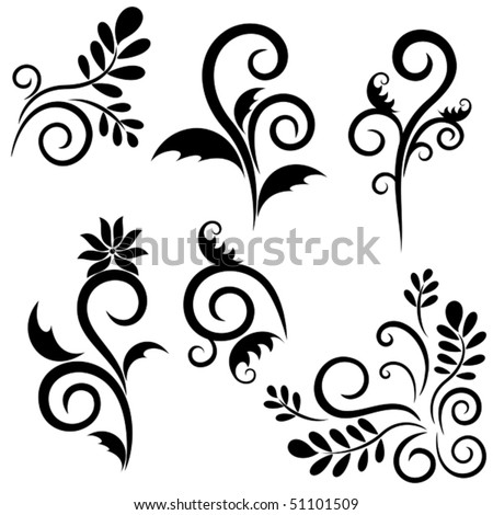 Set of ornament for design. Vector objects isolated - stock vector