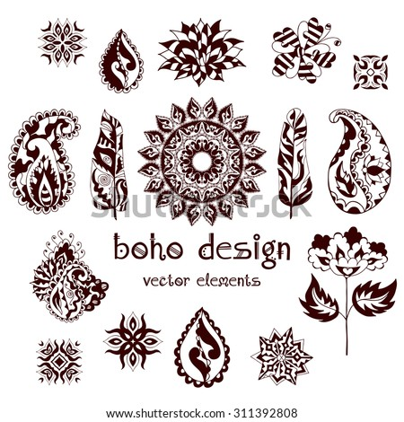 Mandala Boho Flower Stock Images Royalty Free Images Amp Vectors