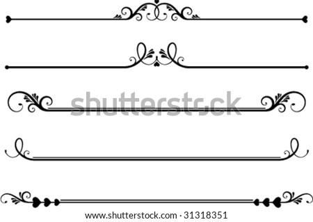 set ornamental floral rule lines underlines stock vector free filigree clip art images free filigree clip art patterns