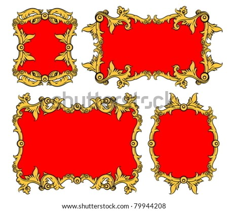 set of ornamental frames