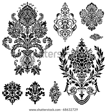 Damask Border Stock Images, Royalty-Free Images & Vectors ...