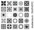 Set of ornaments - stock vector