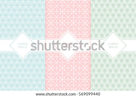 Set packaging design templates seamless patterns stock vector set of packaging design templates with seamless patterns and frames suitable for cosmetics beauty colourmoves
