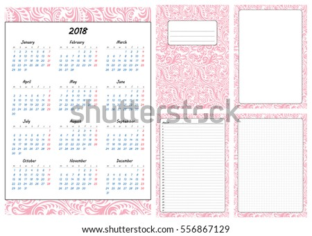calendar pages template