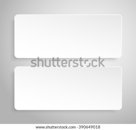 Set of paper banners template for business design, infographics. Vector illustration eps10.