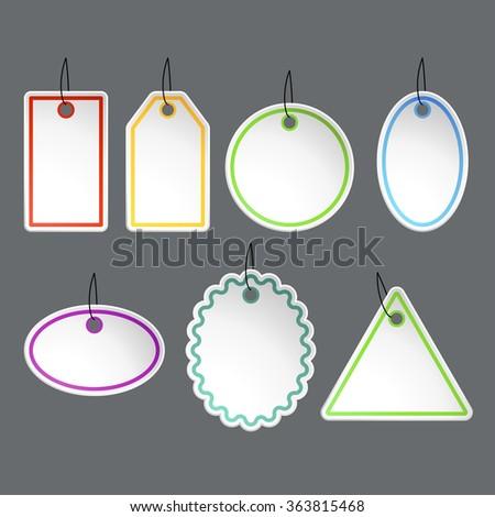 set of paper labels - stock vector