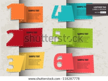 Set of Paper Tag Labels - stock vector