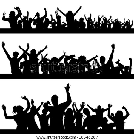set of party peoples - stock vector