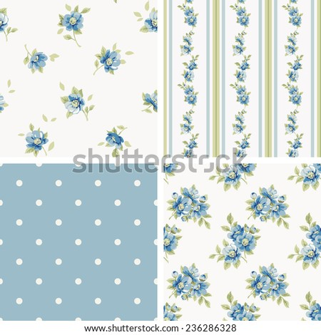 Set of patterns - stock vector