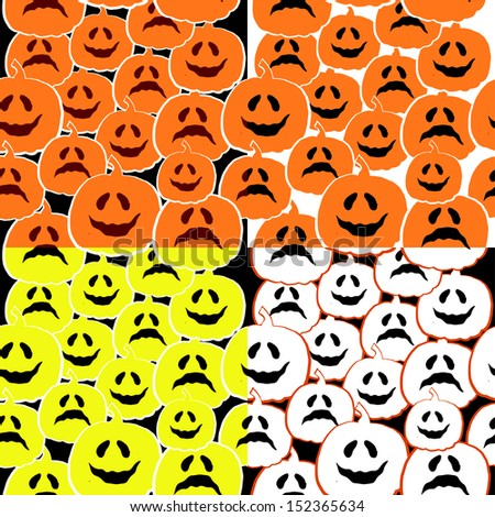 set of patterns for Halloween