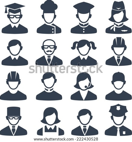 Set of people icons  - stock vector