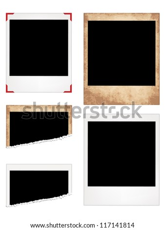 Set of Photo Frames. Eps10 Vector Illustration - stock vector