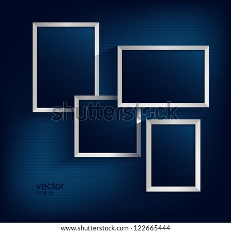 Set of photo frames vector 6 - stock vector