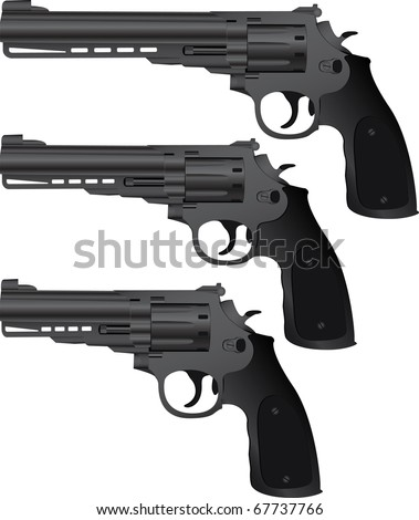 set of pistols. vector illustration - stock vector