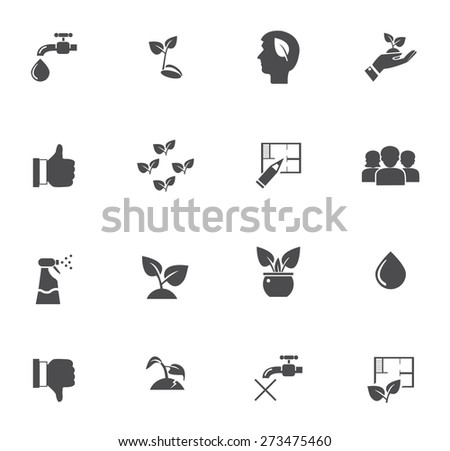 set of plant's icons - stock vector