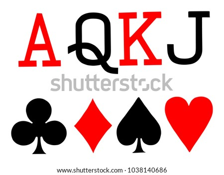Set Playing Card Symbols Vector On Stock Vector Royalty Free