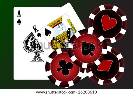 Set of playing cards. To see similar please visit my gallery. - stock vector