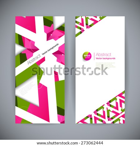 Set of polygonal geometric backgrounds for modern design - stock vector