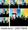 Set of posters for sports championships multicolored - stock vector