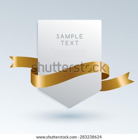 Set Of Premium Ribbons. Vector Illustration - stock vector