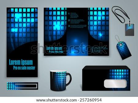 Set of presentation of flyer design content background. - stock vector