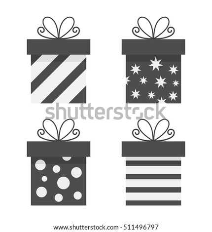 Set of presents icons. Vector illustration