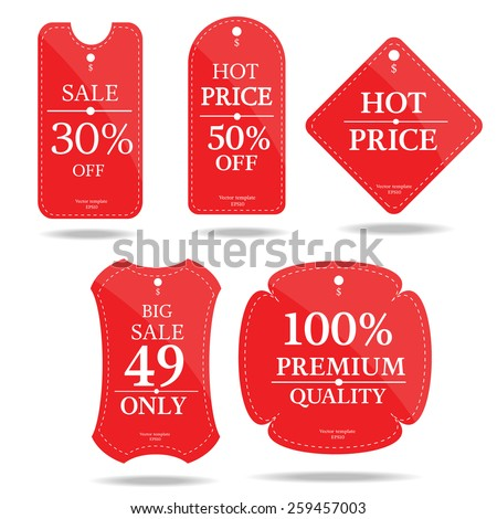 set of price tag banner-vector