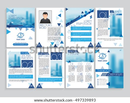 Set Professional Brochure Template Cover Design Stock Vector - Professional flyer templates