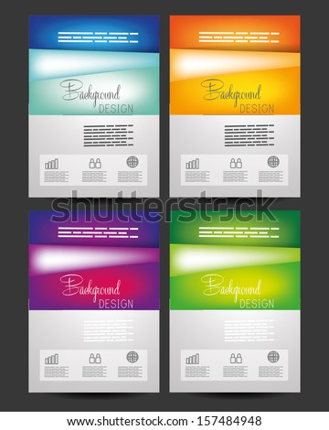 set of Professional business red flyer template, brochure or cover design or corporate banner design for publishing, print and presentation. EPS 10. - stock vector