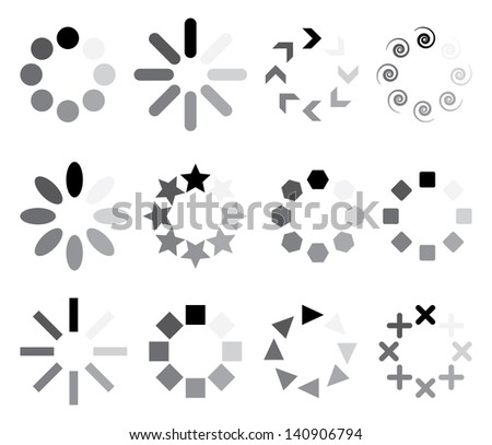 set of progress indicators. vector eps8 - stock vector