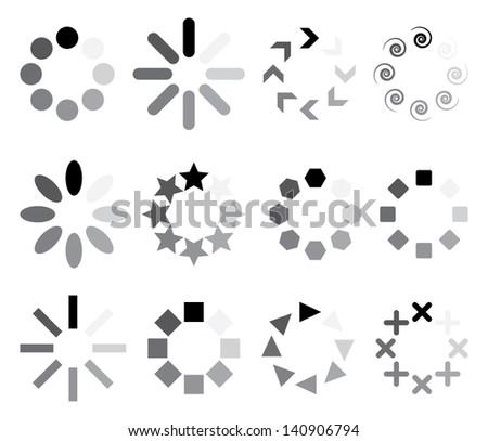 set of progress indicators. vector eps8 - stock vector