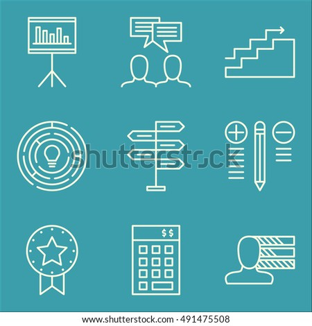 Set Of Project Management Icons On Creativity, Best Solution, Investment And More. Premium Quality EPS10 Vector Illustration For Mobile, App, UI Design.