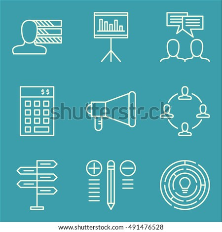 Set Of Project Management Icons On Personality, Investment, Statistics And More. Premium Quality EPS10 Vector Illustration For Mobile, App, UI Design.