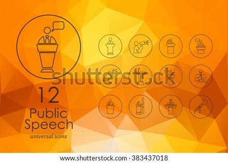 Set of public speech icons - stock vector