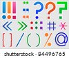 Set of punctuation marks and signs, vector - stock vector